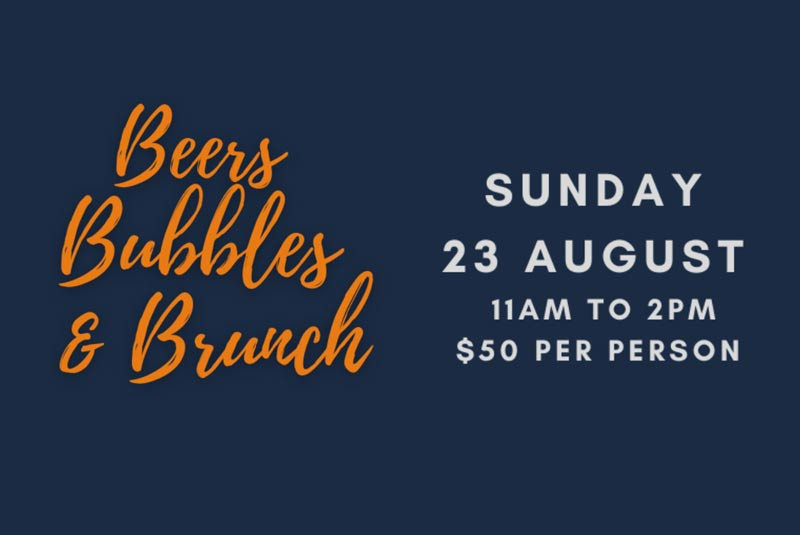 Beers Bubbles & Brunch: Sunday, 23 August 2020